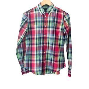 Ralph Lauren Sport Boys Plaid Button Down Shirt